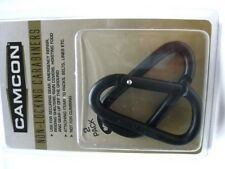 CAMCON Black Aluminum LARGE Size 80mm NON-LOCKING CARABINER 2 Pack Combo! 23015