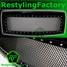 09-14 Ford F150 Chrome Rivet Studded+Gloss Black Mesh Grille+Shell FX+STX+XL+XLT