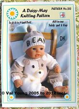 "Dolls knitting pattern  for 18""-19""doll  one of  Daisy-May Original Patterns"