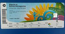 Eintrittskarte/ Ticket WM 2014 #28 Nigeria/nigria vs Bosnien/ bosnia Herzegovina