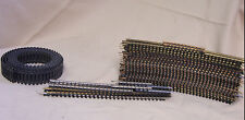 """LARGE LOT OF  R HO SCALE TRACK 25 FT TIE STRIP, 18"""" CURVES, MISC"""