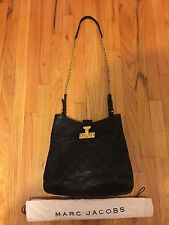 Authentic Marc Jacobs Black Quilted Leather Handbag