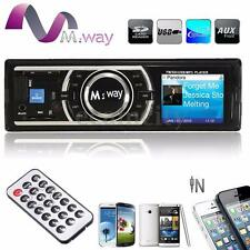 Reproductor Autoradio Coche In-Dash SD/USB/AUX FM Radio Estéreo MP3 Player I DIN