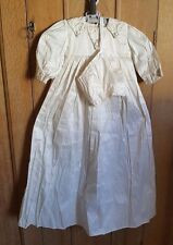 CHRISTINE ANN VICTORIAN STYLE TRADITIONAL 100% SILK CHRISTENING GOWN & BONNET