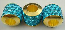2PCS New Listing High Quality CZ Crystals Beads fit European Charm Bracelet sA6