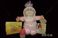 VINTAGE 1986 CABBAGE PATCH DOLL BABY POWDER DOLL With Bottle Warmer & Papers