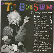 'TIL TUESDAY - (BELIEVED YOU WERE) LUCKY - 45 RPM RECORD - RARE DJ COPY  - 1988