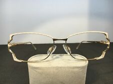 Vintage Cazal Sunglasses MOD 170 COL 439 55-15-135 Gold/White Frames Only C96