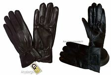 Lot of 2. Men's leather gloves, (XL) Brown Unbranded hand warmer winter gloves