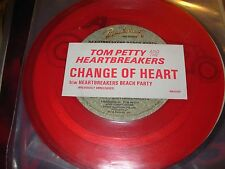 "TOM PETTY change of heart / heartbreakers beach party  ( rock ) 7"" / 45 - red -"