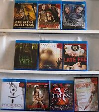 Lot of 10 Horror Blu Ray Disc DVD Devil Dog Death Trance Death Kappa X Cross New