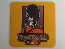 Beer Bar Coaster ~*~ HOPS Grillhouse & Brewery Royal English Amber    Nationwide