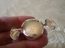 Solid sterling silver hallmarked ROUND SWEETIE PILL BOX
