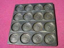 ancien moule a chocolat LETANG fils PARIS  16 médaillons rosaces chocolate mold