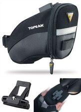 Topeak SMALL QuickClick Aero Wedge TC2251B Bike Seat Bag w/Fixer QR Pack Black