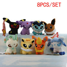 5'' Flareon Vaporeon Jolteon Eevee Leafeon Glaceon Umbreon Pokemon Plush Toy Set