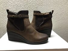 UGG EMALIE STOUT WATERPROOF LEATHER ANKLE WEDGE BOOT US 8 / EU 39 / UK 6.5