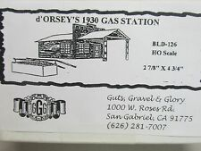 GUTS,GRAVEL & GLORY ~ d'ORSEY'S 1930 GAS STATION BUILDING KIT ~HO SCALE