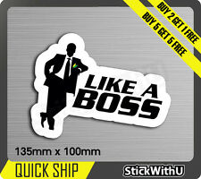 like a boss wakaba leaf  drive Sticker Decal Vinyl JDM race Car drift Turbo 1V38