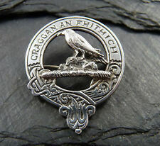 Vintage Scottish Silver Clan Brooch / Badge  -1971 - Inverness - Clan MacDonell