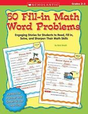 50 Fill-in Math Word Problems: Grades 2-3: 50 Engaging Stories for Stu-ExLibrary