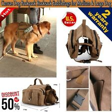 Pet Dog Outdoor Travel Hiking Camping Bag Backpack Harness Canvas Rucksack Hot