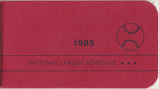 1985 National League Schedule Booklet East & West Teams