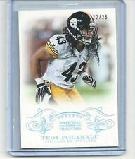 * TROY POLAMALU * 2013 NATIONAL TREASURES CENTURY SILVER PARALLEL # 25