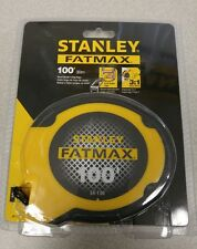 "NEW  STANLEY 34-130 3/8"" X 100' FOOT FAT MAX SS TAPE MEASURE RULER SALE 2715407"
