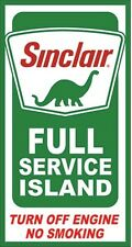 Sinclair Full Service Island Metal Sign 400mm x 215mm (de)