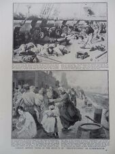 1915 THE BLUCHER BURNING, ROLLING AND SINKING, DOGGER BANK WWI WW1