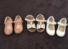 Next Girls Shoes Size 5.5, 6 & 6.5 Butterfly Sandals White Pumps Pink Pumps