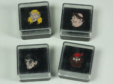 LOT 4 STEREOTYPE FANTASY CHARACTERS PINS ELF CLERIC THIEF DWARF NEW VINTAGE
