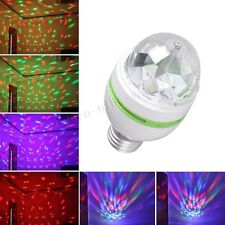 E27 3W multicolor auto Rotating RGB LED Bulb Stage Light Xmas Party Lamp Disco