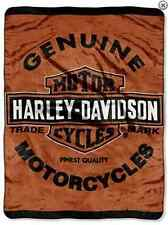 "Harley Davidson Genuine HD Officially SUPER SOFT WARM THROW BLANKET 60"" X 80"""