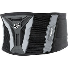 "07037 Fox Black and Grey Turbo  Motorcross Racing Kidney Belt  28"" to 36"" Waist"