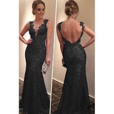 Black-S Women Long Sexy Cocktail Evening Party Ball Gown Prom Bridesmaid Dress