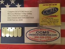CCMS Mercury/Mariner Race Outboard Reed 135hp-200hp 1976-1995 V6 5 Leaf PN.265R