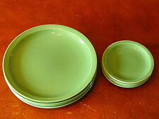 FIESTA COLOR BRIGHT GREEN SYRACUSE CHINA CO DINNERWARE SET DESSERT PLATE  LOT