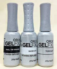 ORLY GELFX 3PC KIT - Primer + Base Coat + Top Coat COMBO - 0.3oz/9ml