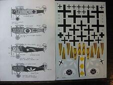 1/48   MICRO SCALE N° 50 DECALS FOKKER DVIII POLIZFLIEGER STAFFEL & JASTA'S