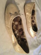 Sam Edelman Snakeskin Leather Ballet Flats Shoes Size 9.5M
