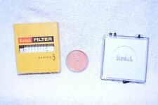"""Kodak Series V (5) 85c For Type """"F""""  Drop-In Filter w Case and Box USA (P-299)"""