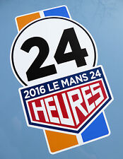 LE MANS 24 HOURS 2016 PAIR of '24' stripe style stickers decals 340mm tall