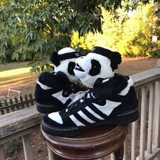 VERY RARE! NEW PANDA Bears Adidas US Size 9.5 Jeremy Scott U42612 AUTHENTIC 100%