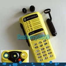 New Yellow Front Outer Case Housing Cover Shell for Motorola GP338 Radio