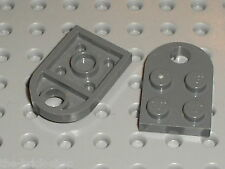 2 x Lego DkStone Plate with Hole ref 3176 / set 8129 8128 8014 9674 10178 7255..