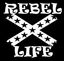 "Rebel Life Decal Car Window Flag Rebel  6""X 6"" for Car,Truck Windows 2 Pack"
