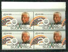 NELSON MANDELA MEXICO-S.A. 20 YEAR RELATIONS BLOCK OF 4 MNH