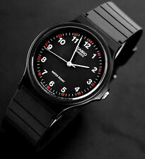 Casio MQ24-1B Black and Red Watch Analog Classic NEW Free Shipping